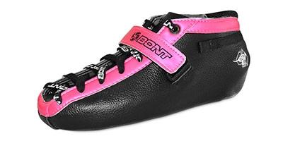 Bont Hybrid Carbon Black Durolite with Pink Trim Boot Size 4